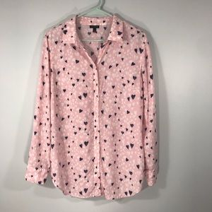 ✨3 for 20 TALBOTS PINK BUTTON DOWN BLOUSE